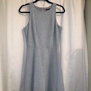 White House Black Market Gray Cotton Dress